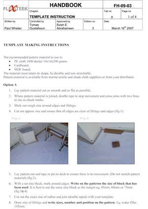 Flexiteek Instruktion hur du mallar av ditt båtdäck